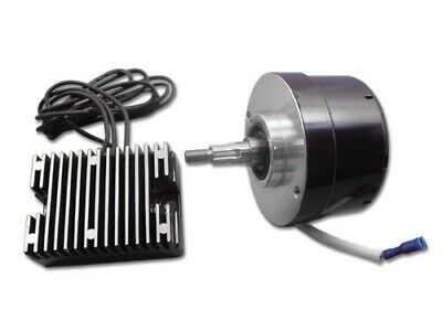 Black Generator Alternator 12 Volt 17 Amp Conversion Kit 32-0371 Harley Ironhead