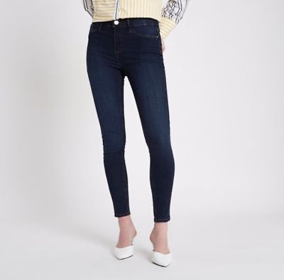 ex-River Island Dark Blue Molly Jeggings RRP £40.00 - NB (FACTORY SECONDS)