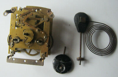 Smiths Mechanical Mantle Clock Movement Chime Pendulum Complete Spares Repair