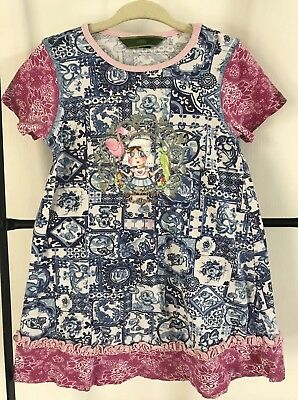 OILILY Home Is Where The Heart Is Knit Dress Sz 98 3T EUC