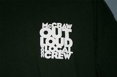 TIM MCGRAW 2004 Out Loud Concert Tour CREW ONLY T-SHIRT XL Country Music