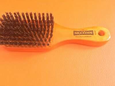 NEXXZEN Reinforced Boar 360 Club Wave Brush With Medium Firm Bristles