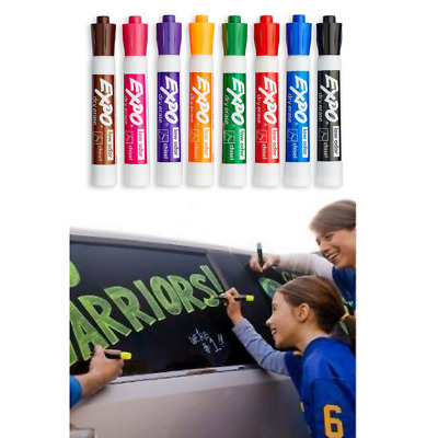 Smear Proof Dry Erase Markers Chisel Tip Assorted Colors School Bright Low Odor