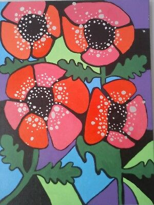 Poppy canvas painting charity