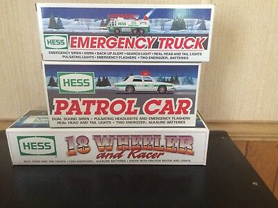 Lot Of 3 Hess Toy Trucks 1992, 1993 & 1996 Not Removed