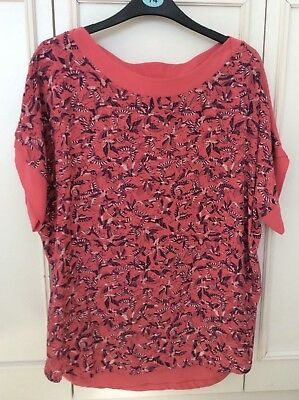 New Without Tags, Next Top, Peach Colour, Size 14, Cotton Back, Viscose Front
