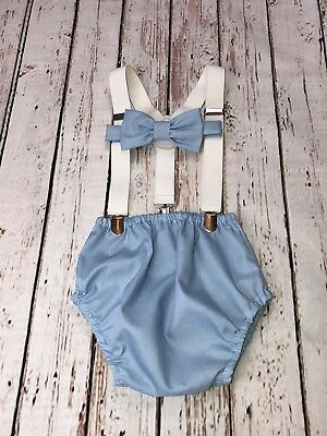 Baby Boy 1st Birthday Cake Smash Prop Outfit Handmade For Twins