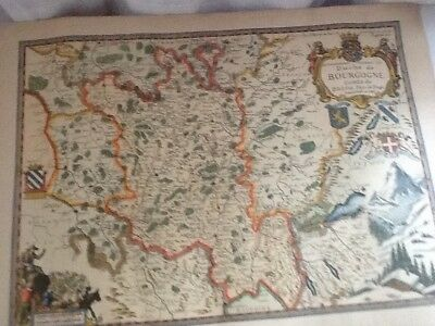 Antique French Map Of Duche De Bourgogne