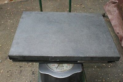 "Granite Surface Plate 24""x18""x4"" Black, Calibration Sticker 2 Step"