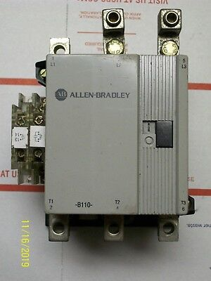 ALLEN BRADLEY CONTACTOR 120V COIL 100-B110N*3 w AUXILIARY CONTACT