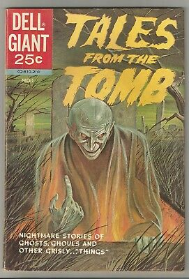 TALES from the TOMB (Dell Giant, 1962) issue 1 CLASSIC L.B. Cole painted cover!