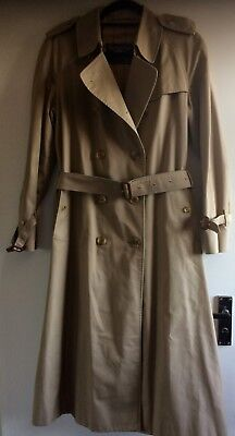 Ladies Classic Burberry Trench Coat Mac size UK 12 long