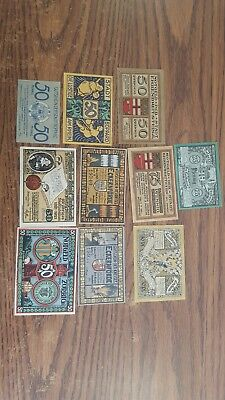EARLY German NOTGELD Lot ~ CIRC./ UNC~ Used/ NEW Germany Banknotes Currency LotC