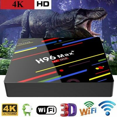 H96MAX + Tv Box 4GB/32GB Android 8.1 Quad Core 4K Wi-Fi RK3328 Lecteur