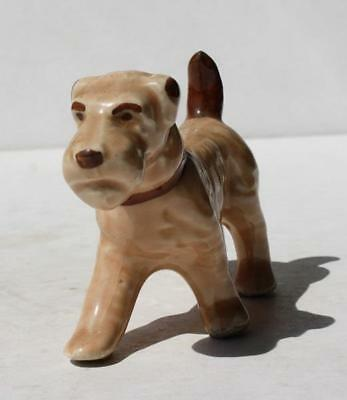 Wire Fox Terrier Dog Figure Ceramic-Porcelain Hand Painted Made in Japan VTG-#3