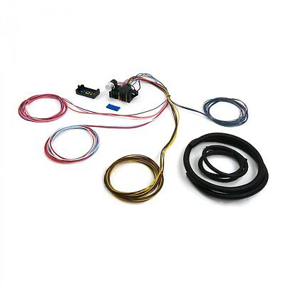 Wire Harness Fuse Block Upgrade Kit for 68 79 18 circuit universal wire harness rat rod street rod hot rod
