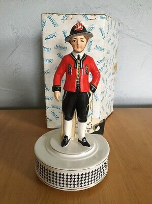 Schmid Musical Figure Porcelain Italian Man Figurine Revolves Made in Japan