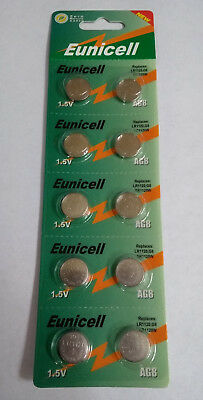 10 Pcs AG8 LR55 381 391 191 LR1120 L1121 1.5V Alkaline Battery Watch Eunicell