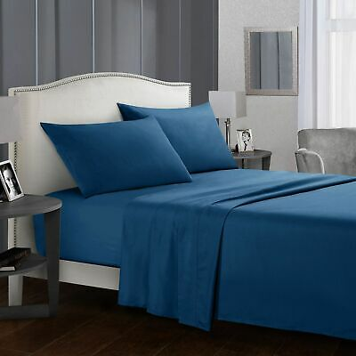 Soft Comfort Luxury Flat & Fitted Bed Sheet Set - Single King Double Queen Size