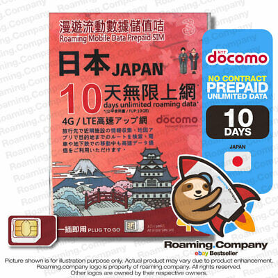 Ntt Docomo 10Gb 4G Lte 10 Days Unlimited Japan Prepaid Data Sim Card By 3Hk
