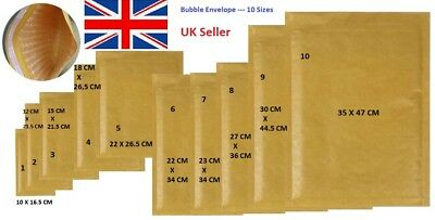 ALL SIZES Golden Bubble Padded Mailers GOLD Envelopes Bags secure safe packaging