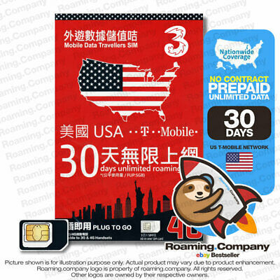 US SIM CARD (United States of America) T-MOBILE USA , 5GB 30 days Unlimited Data
