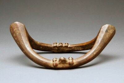 Senufo Boat Anklet Currency Antique Ivory Coast West African Bronze