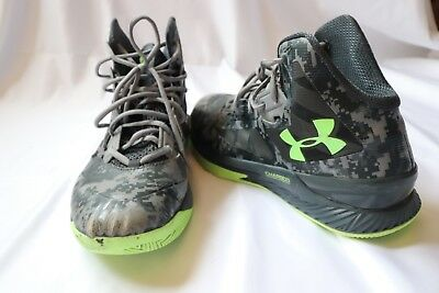 a5e89d91e08e Under Armour Lightning 3 Basketball Shoes Mens Size 10.5 Grey Black Lime EUC