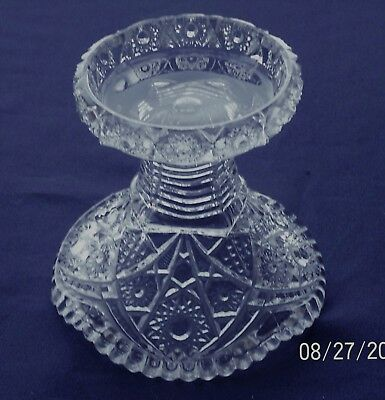 Antique Vintage Early American Pressed Glass EAPG Punch Bowl Stand McGee Concord