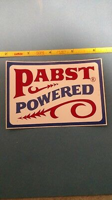 vintage Pabst Blue Ribbon beer Pabst powered sticker snowmobile