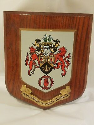 Dungannon Council N. Ireland Coat of Arms Wall Hanging Plaque handpainted W/box