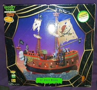 Lemax Spooky Town Collection The Jolly Roger RETIRED MICHAELS 2007 HALLOWEEN VGC