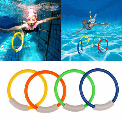 Underwater Swimming Diving Sinking Pool Toy Rings For Kid Children