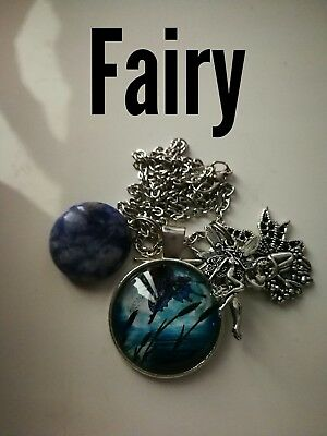 Code 487 Sodalite infused Fairy Necklace Doreen Virtue Certified Practitioner