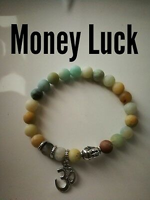 Code 487 Money Luck Amazonite Infused Bracelet Spiritual Prosperity Yoga Abundan
