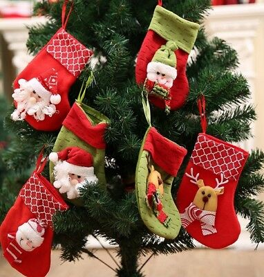 3Pcs Set Christmas Stocking Gift Bag For Home Party Xmas Tree Gift Decoration