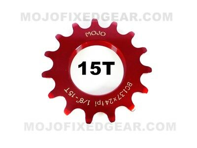 MOJO 19T FIXED GEAR COG CHROME Cro-Mo TRACK 19 TOOTH 1//8 INCH CNC