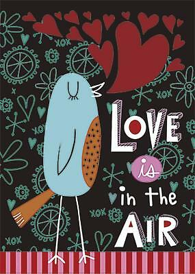Morigins Love Is In The Air Cute Bird Valentine's Day Double Sided Garden Flag