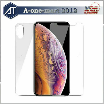 For iPhone XR/XS MAX/XS Front and Back 9H Tempered Glass Screen Protector Film