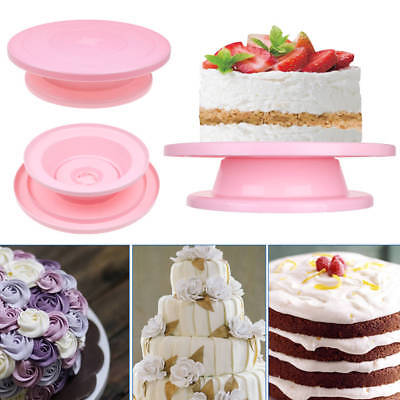 28cm Cake Decorating Turntable Revolving Rotating Icing Stand Kitchen Display AU