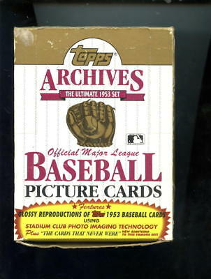 1991 Topps 1953 Archives baseball Card Set Wax Pack Box Mickey Mantle