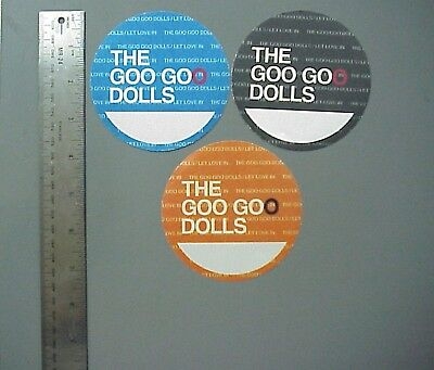 Goo Goo Dolls backstage passes Satin cloth 3 circles Let Love In