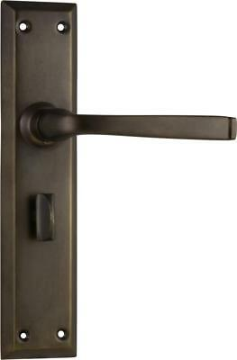 privacy set antique brass menton lever door handle/backplates,225 x 50 mm 0678 P