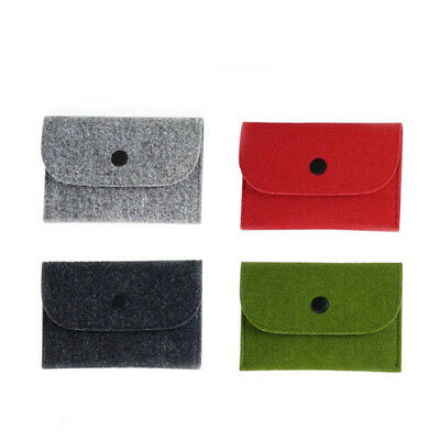 Wallet slim money clip credit card holder ID business Male genuine felt buckle