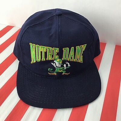 Notre Dame NCAA Fighting Irish Rudy Football Vintage PCap Snap Back Cap Hat 11A7