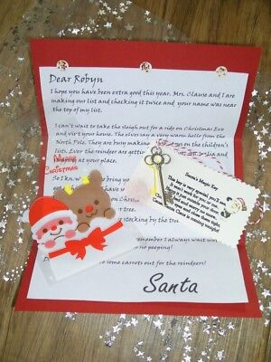 Personalised Letter From Santa With Magic Key
