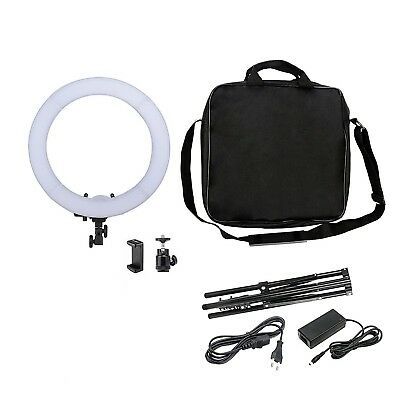 """18"""" 240PCS LED Dimmable 50W Photo Ring Light Continuous Photo Lighting Kit USA"""