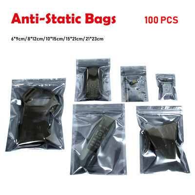 100PCS Semi-Transparent ESD Anti-Static Shielding Bags All Size Zip Package Bags