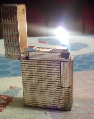 Accendino accendisigari lighter DuPont paris color argento