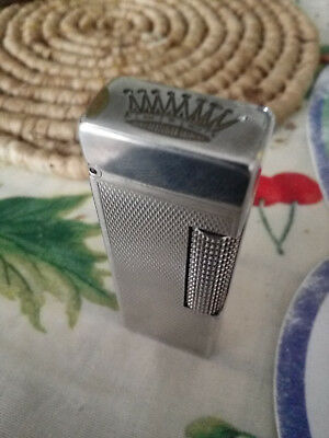 Accendino accendisigari lighter Dunhill color argento good conditions crown